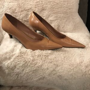 Cathy Jean Beige Pointy Toe Pumps
